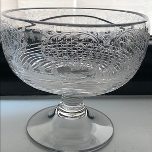 Other - Etched Glass Serving Bowl